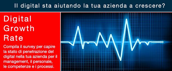 Calcola gratis lo stato di salute del digital all'interno della tua azienda con il digital growth rate!