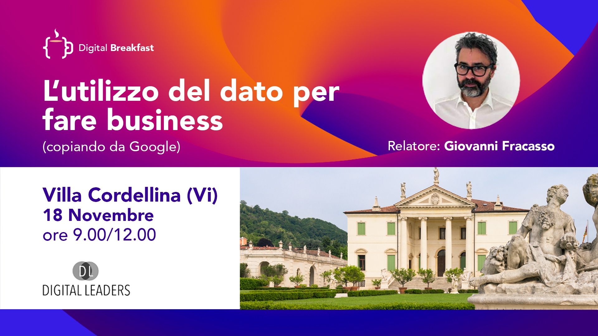 Utilizzo dato per fare business - Seminario Vicenza Villa Cordellina 18 novembre 2021
