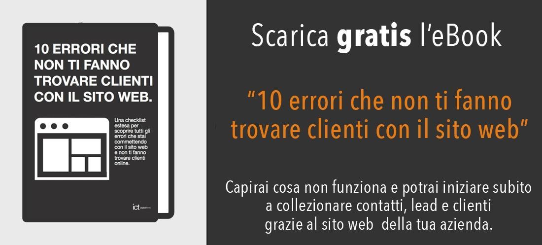 scarica gratis ebook 10 errori sito web che non ti fanno trovre clienti online