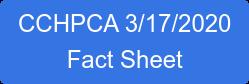 CCHPCA 3/17/2020 Fact Sheet