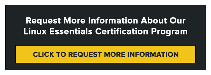 Request More Information About Our Linux Essentials Certification Program
