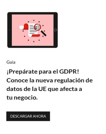 Prepárate para el GDPR