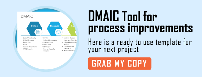 DMAIC tool for PowerPoint presentations