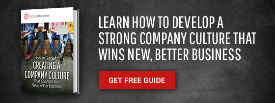 Learn how to develop a strong company culture that wins new, better business