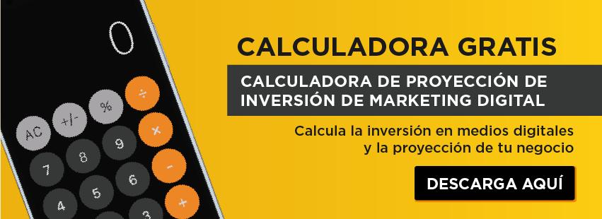 Calculadora de Proyección de inversión de Marketing