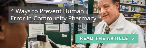 prevent human error in community pharmacy