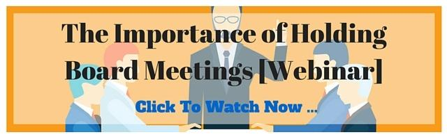 The Importance Of Holding Board Meetings - Webinar
