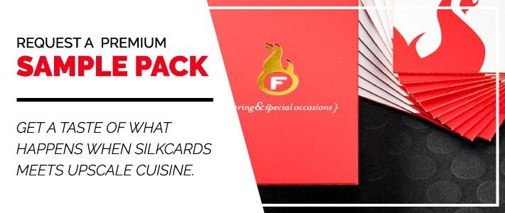 Request a Premium Restaurant Sample Pack