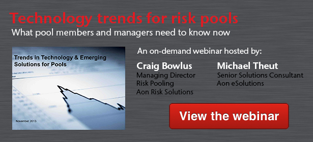 Technology trends for risk pools