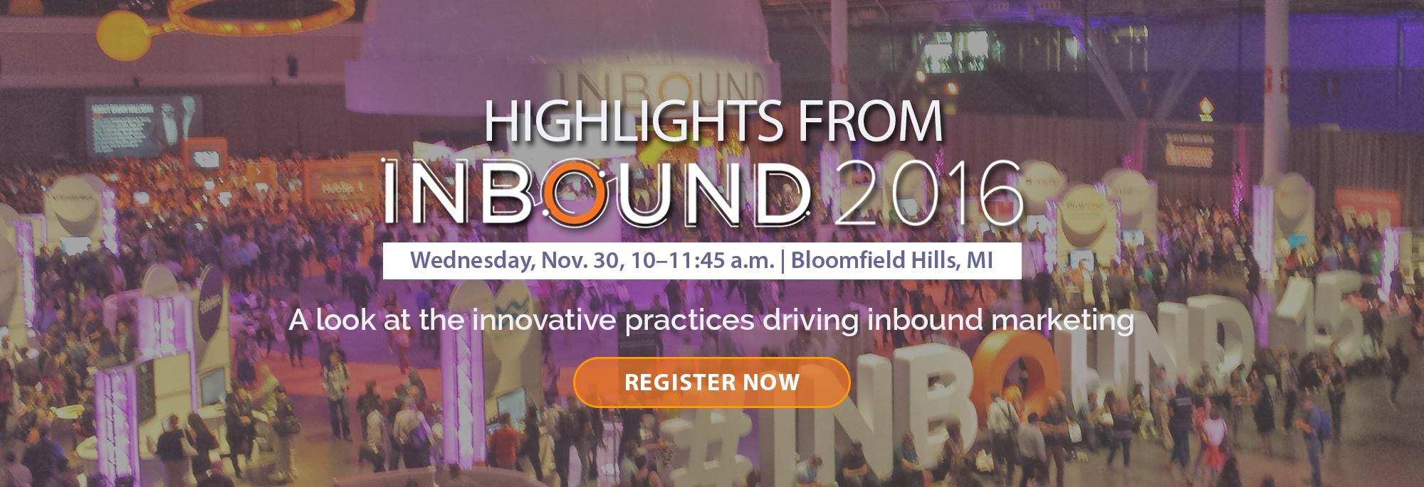 Highlights of Inbound 2016 Event