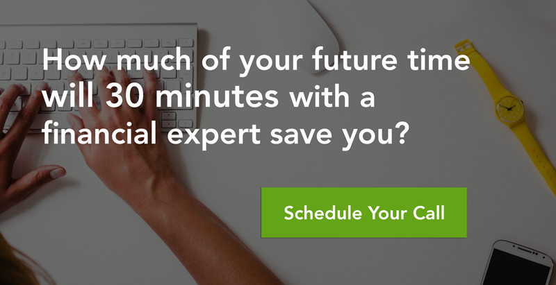 How much of your future time will 30 minutes with a financial expert save you?