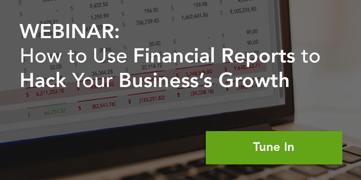 Financial reports hack webinar
