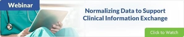 Data normalization and clinical information exchange webinar
