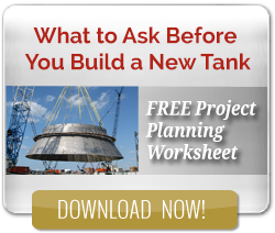 New tank project planning worksheet