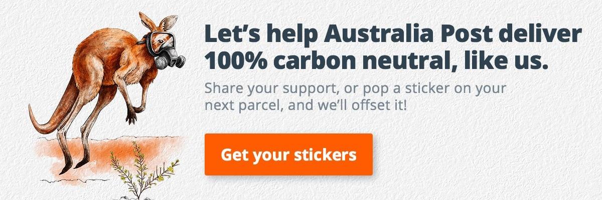 Let's help Australia Post deliver 100% carbon neutral, like us.