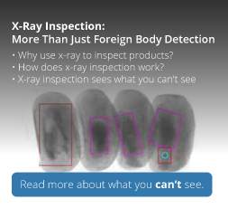 X-ray, More Than Just Foreign Body Detection - Plan Automation