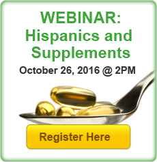 Webinar Registration: Hispanics and Supplements