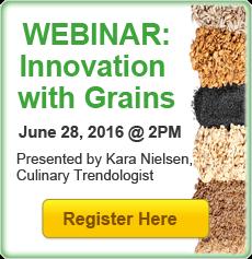 Webinar Registration: Innovation with Grains