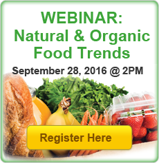 Webinar Registration: Natural and Organic Food Trends