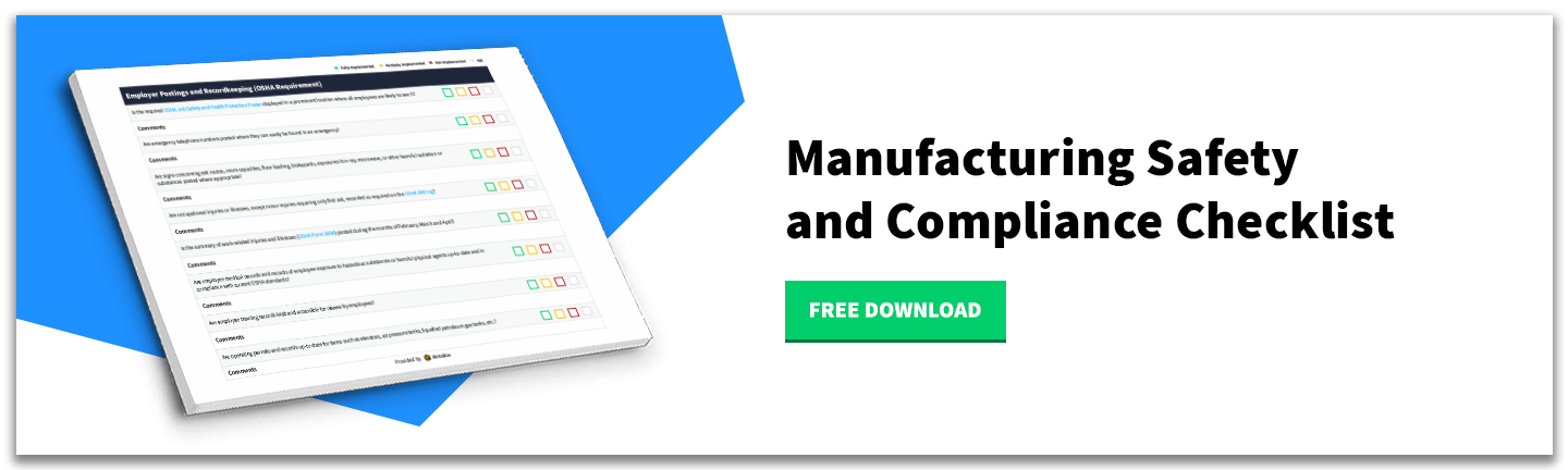 Download - Manufacturing Safety and Compliance Checklist