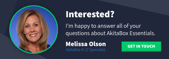 Click to Contact Melissa Olson, AkitaBox K-12 Specialist for your facility management needs