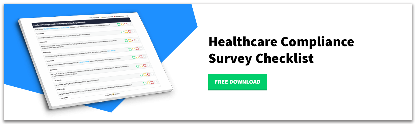 Download - Healthcare Compliance Survey Checklist