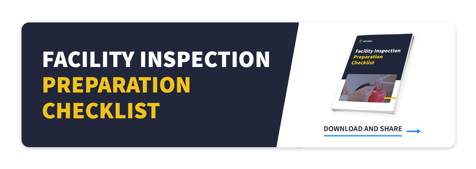 Download Now: Facility Inspection Preparation Checklist CTA to checklist download page
