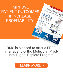 Ortho Molecular Products' and RMS Integration Replete Program