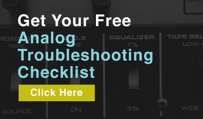 free analog troubleshooting checklist