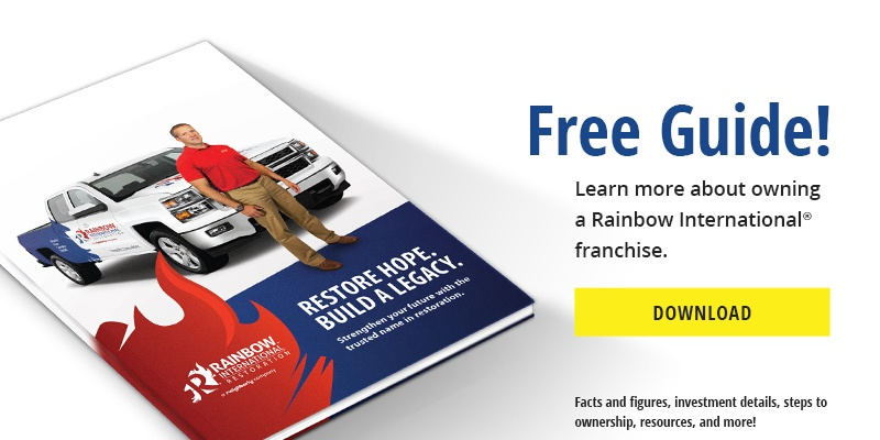 Free guide about Rainbow International franchise opportunities