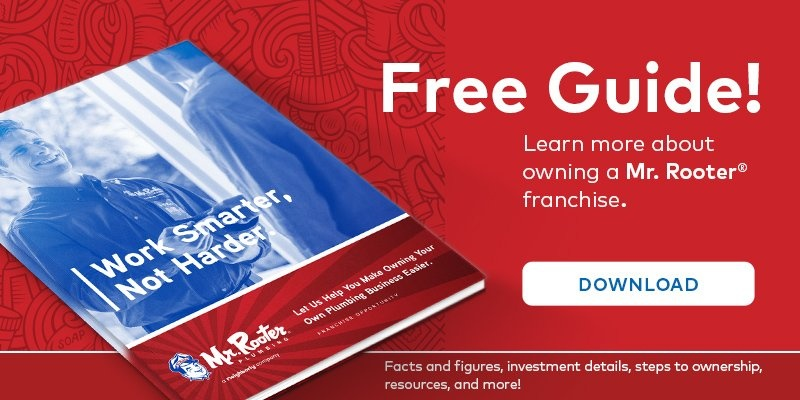 Free brochure about Mr. Rooter franchise opportunities