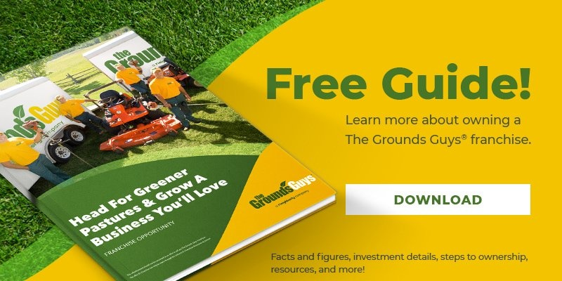 Free brochure about The Grounds Guys franchise opportunities