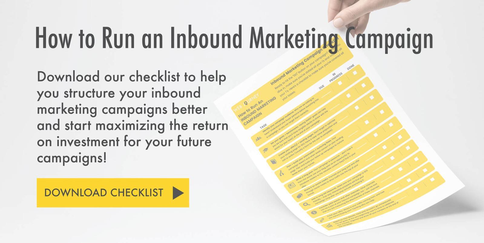 MOF - Checklist for Running Inbound Marketing Campaigns