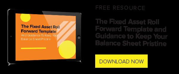 Fix Asset Roll Forward Template