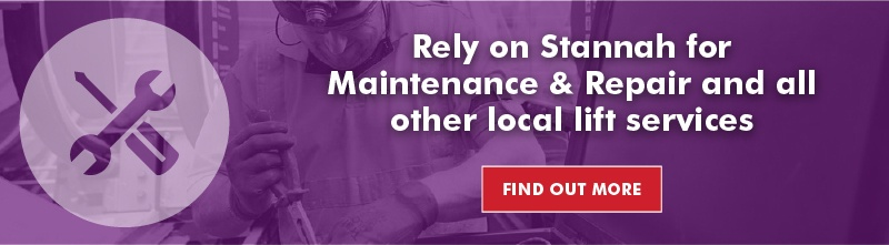 Local lift maintenance and repair services by Stannah