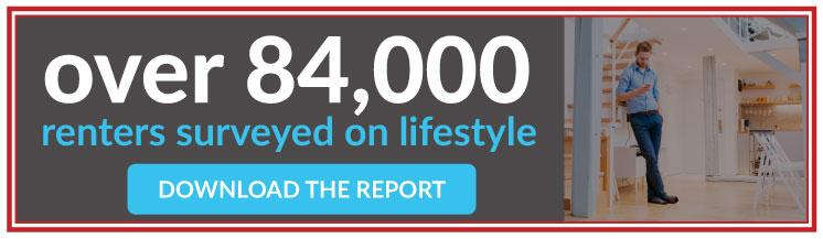 Over 84,000 renters surveyed on lifestyle download the report.