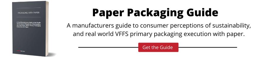 CPG可持续性和VFFS机器与纸张执行