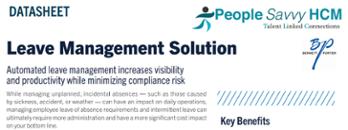 People Savvy HCM Leave Management Datasheet