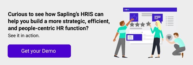 Sapling's HRIS can help your build a more strategic, efficient and people-centric HR function