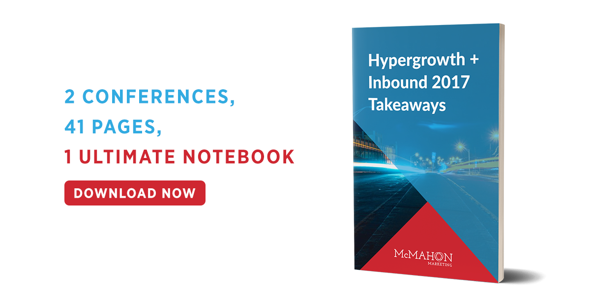 2 Conferences, 41 Pages, 1 Ultimate Notebook - Hypergrowth & Inbound 2017 Takeaways