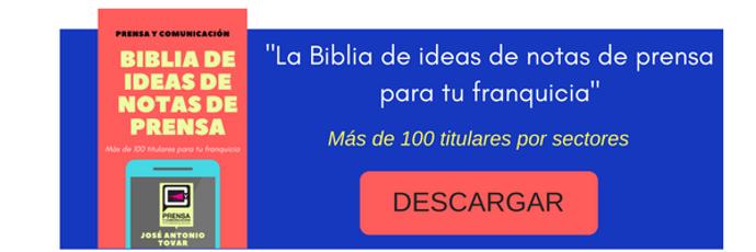 Biblia de ideas de notas de prensa para franquicias