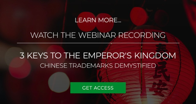 Watch the recording of webinar 'Chinese trademarks demystified'