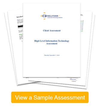 View a sample client IT assessment prepared by C3