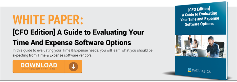 [cfo edition] a guide to evaluating your time and expense software options
