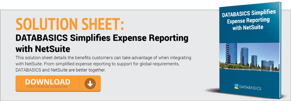 DATABASICS Simplifies Expense Reporting with NetSuite