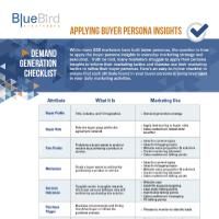 Applying Buyer Persona Insights