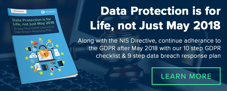 NIS Directive and GDPR ensure Data Protection remains compliant after May 2018