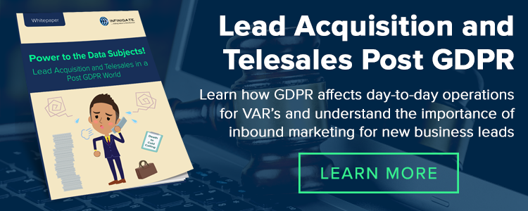 Lead Acquisition Telesales Post GDPR Data Subjects