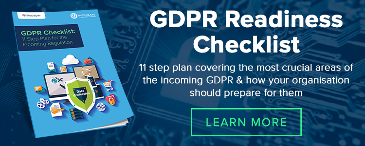 Prepare for GDPR 11 step checklist