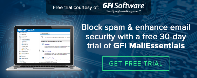 Get free 30 day trial GFI MailEssentials